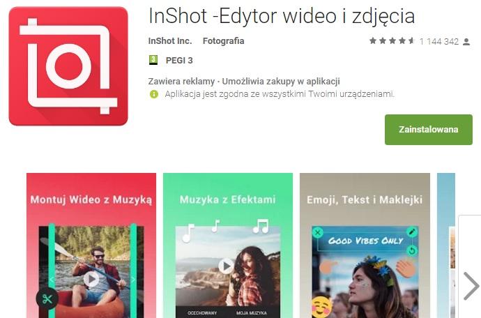 aplikacja InShot